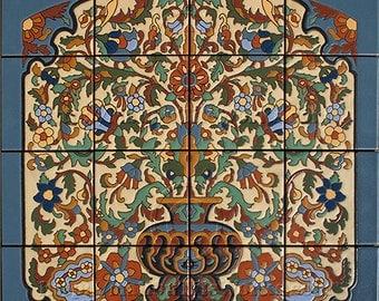 Flowering Urn - Tile Mural