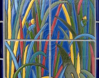Irises - Tile Mural