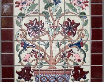 Tree of Life Tile Mural