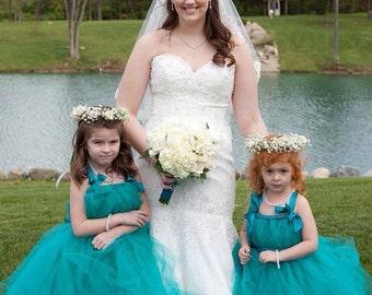 Teal Flower Girl Dress Tutu Girls, Jade Toddlers, Wedding, Baby