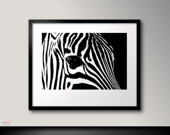 Zebra Wall Art zebra print zebra art black and white printable zebra wall