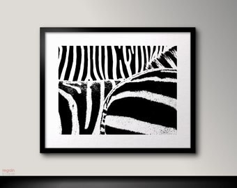Black and white art print, Zebra print, Zebra art, Black and white printable, Zebra print decor,Zebra decor, Zebra wall art,Zebra decoration