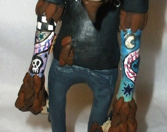 Punk Wolfman Sculpture