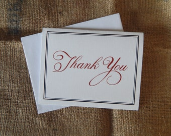Red and Black Thank You Card  |  Blank Thank You Card  |  Customizable