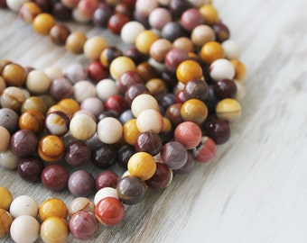 Mookaite 8mm round Beads A quality Ship from America Full Strand