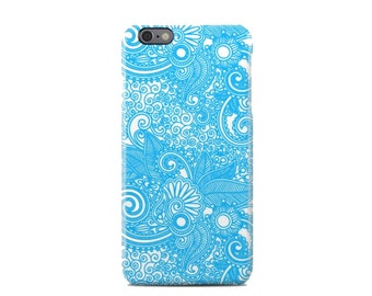 Light Blue Paisley Pattern iPhone 6 Case - iPhone 6 Plus Case - iPhone 5 Case - iPhone 5S Case - iPhone 5C Case
