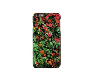 Red & Green Floral Pattern iPhone 6 Case - iPhone 6S Case - iPhone 6 Plus Case - iPhone 5 Case - iPhone 5S Case - iPhone 5C Case