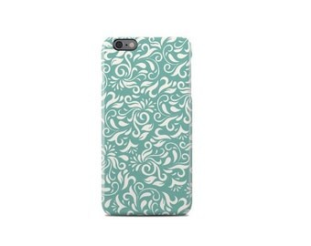 Green Flower Pattern iPhone 6 Case - iPhone 6S Case - iPhone 6 Plus Case - iPhone 5 Case - iPhone 5S Case - iPhone 5C Case