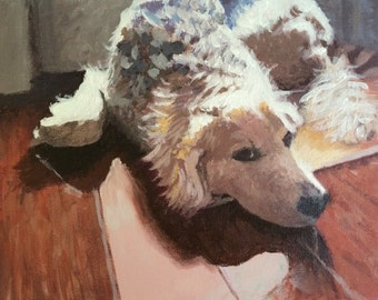 Custom pet portrait. Acrylic painting on canvas from your photo. Custom animal portrait.