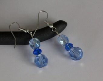 3 stones earrings
