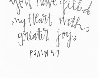 Psalm 4:7 Print