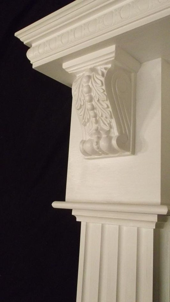 items similar to wood gas corbel fireplace mantel