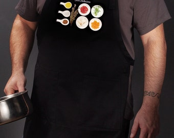 Kitchen aprons for the modern home chef. For men and women. (Bouillabaisse, France) FREE SHIPPING