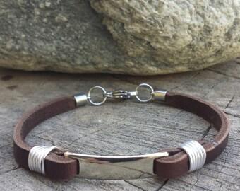 FREE SHIPPING- Mens Leather Bracelet,Slim Bracelet,Thin Men Bracelet,Men's Bracelet, racelet For Men,Men Bracelet,Unisex Leather Bracelet