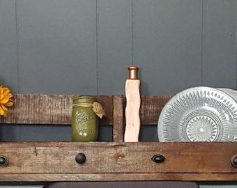 Reclaimed Wood Pallet Shelf Rustic Wood Shelf Wood Pallet Shelf Rustic Home Decor Wood Shelf Brown Shelf