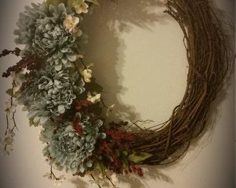 Custom Oval Grapevine Wreath
