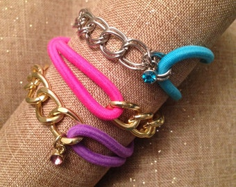 Chain and Hair-tie Bracelet