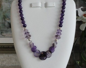 Amethyst beaded necklace  -  5