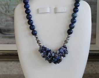 Lapis beaded necklace  -  3
