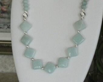 Amazonite beaded necklace  -  6