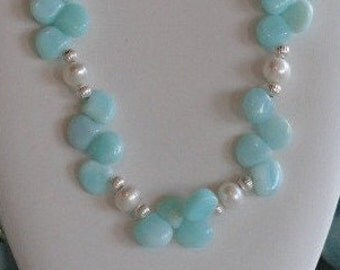 Peruvian opals and Pearl necklace  -  7