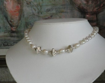 Pearl beaded necklace  -  43
