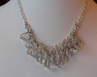 Green Amethyst beaded necklace  -  95