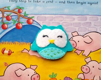 FREE SHIPPING - Little Owl Hair Clip