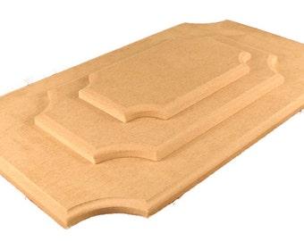 Medium Rectangular Plaque with Scalloped Corners
