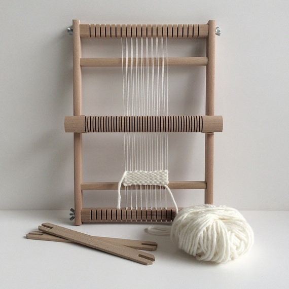 weaving loom s with heddle bar stand optional and rotating warp