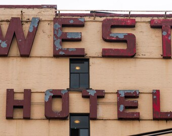 West Hotel, Vancouver. Art photo print, urban cityscape, city