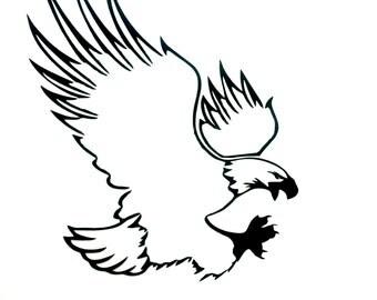 Bald Eagle Vinyl decal, car/laptop decal - Mitten made Vinyl