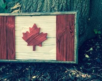 Barn Board Canadian Sign