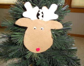 Felt Reindeer Christmas Ornament