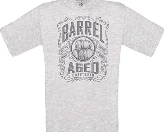 Craft Beer Shirt: Barrel Aged (grey),craft beer shirt, man shirt, beer gift