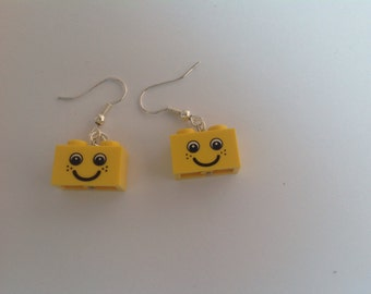 LEGO® brick Smiley earrings