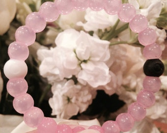 "Pink ""Balance"" Jelly Bracelet for Breast Cancer Awareness"