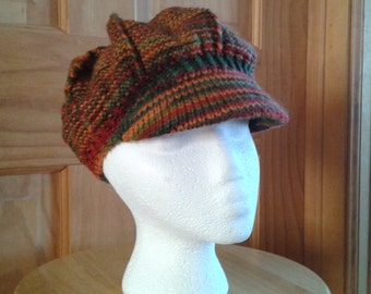 Newsboy Hat in Fall Colors