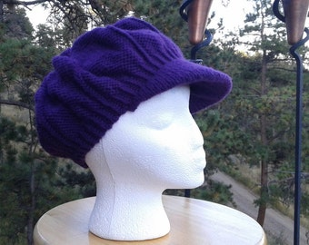 Purple newsboy hat