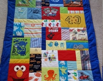 Baby Clothes Quilt - Large Throw