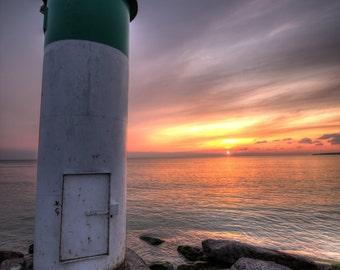 Prince Edward County, Lighthouse Photo, Sunset Photograph, Lake Ontario, Wellington, Dusk photo, Sky Photo, Purple