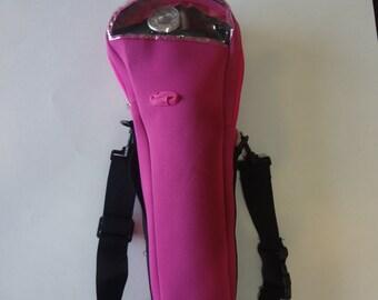 Fuchsia oxygen cylinder carrier bag