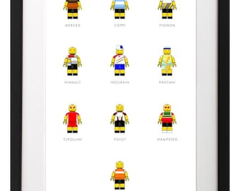 HARDMEN of Lego Cycling Poster