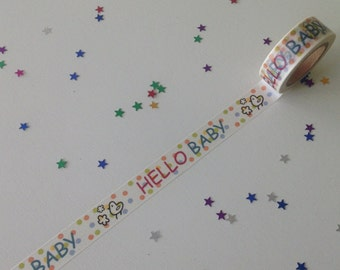 Hello Baby Washi Tape