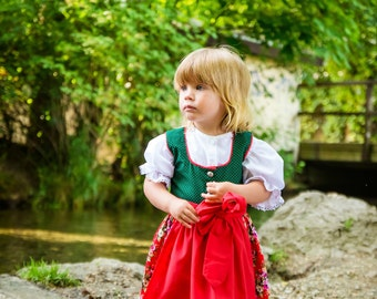 Dirndl, traditional bavarian dress for girls (6month-6years)