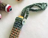 Hanging Monster Eyeball Chapstick Holder Cozy Keychain - DISCONTINUED