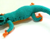 Harry the Electric Blue Day Gecko Amigurumi (Lygodactylus williamsi)