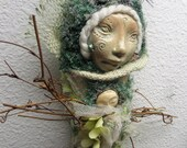 Mother Nature, Earth Goddess Art, OOAK Art Dolls, Spirit of Protection, Assemblage Figure