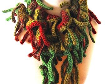 Crochet Scarf Pattern Tutorial - Tender Tendrils Scarves - PDF E-Book