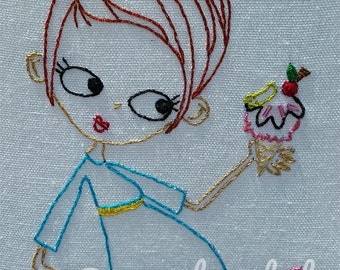 Ice Cream and Pickles Pregnancy Digital Embroidery